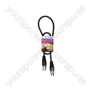 Professional DMX Lighting Leads - lead, 3-pin XLR plug to 3-pin XLR socket - 0.75m