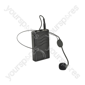 VHF Neckband and Beltpack for QR PA Units - mic & QRPA, 174.1MHz - QRNM1