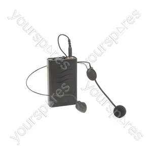 VHF Neckband and Beltpack for QR PA Units - mic & QRPA, 175.0MHz - QRNM2