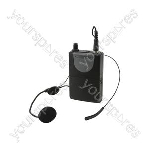 Neckband Mic + Beltpack for QRPA & QXPA - Headset QXPA-plus 864.8MHz - QHS-864.8