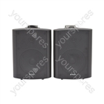 """5.25"""" Active Stereo Speaker Set 2x30W RMS - 5.25inch Black - BC5A-B"""