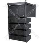 Compact Active Line Array Speaker System - 300W + 300W rms - CLA-300 System, 300W, Black - CLA-300B