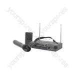 Handheld & Neckband VHF Wireless System - + 173.8 + 174.8MHz - VHN2