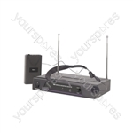 Neckband Microphone VHF Wireless System - - 173.8MHz - VN1