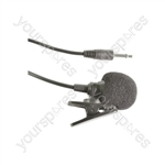 Lavalier Tie-clip Microphones for Wireless Systems - LLM-35 Lightweight cardioid