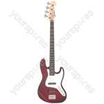 Electric Bass Guitars - CAB42 Wine Red Burst - CAB42-WRS