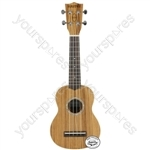 Native Series Ukuleles - Soprano Zebrano