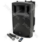 QX series portable powered PA unit with Bluetooth® - QX12PA USB/SD/FM player &