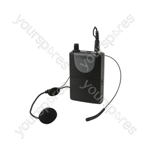 Neckband Mic + Beltpack for QRPA & QXPA - Headset QR+QXPA - 174.1MHz - QHS-174.1