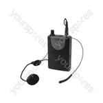Neckband Mic + Beltpack for QRPA & QXPA - Headset QR+QXPA - 175.0MHz - QHS-175.0