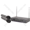 Dual Handheld Microphone VHF Wireless System - - 173.8 + 174.8MHz - VH2