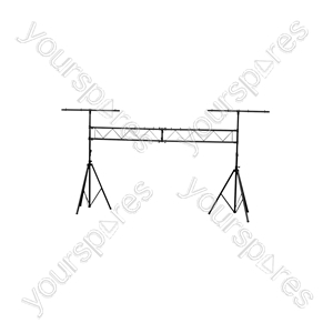 Lighting Goalpost Stand - 3.0m - stand, with 2 bars, height 3m, 60kg max. load - LGP1