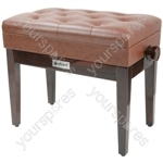 Piano Benches - with storage - brown - PB660HS-BR