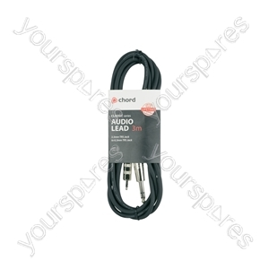 Classic 3.5mm TRS Jack to 6.3mm TRS Jack Leads - 6.35mm-3.5mm 3.0m - S6-3J300