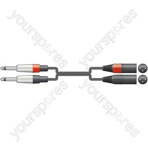 Classic 2 x 6.3mm Mono Jack to 2 XLRM Leads - XLRM-2 3.0m - 26J-2XM300