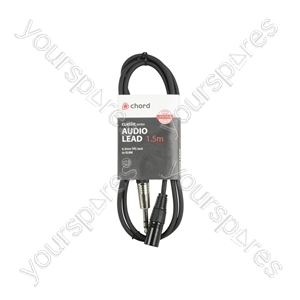 Classic 6.3mm TRS Jack to XLRM Leads - - 1.5m - S6J-XM150