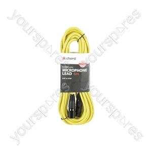 Classic XLRF to XLRM Leads - M-F 6.0m Yellow - XF-XM600YW