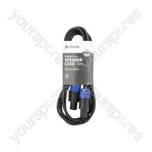Spk Plug to Spk Plug Speaker Leads - Standard 3.0m