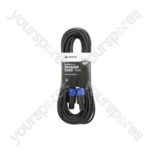 Spk Plug to Spk Plug Speaker Leads - Standard 12.0m