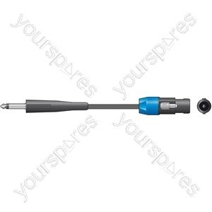 Classic Speaker Leads 6.3mm Mono Jack Plug - Speaker Plug - 6.0m - SPK-J600