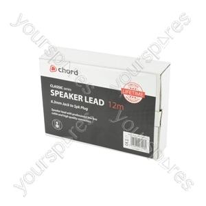 Classic 6.3mm Jack to Spk Plug Speaker Leads - - 12.0m - SPK-J1200