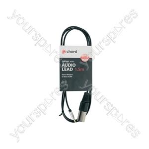Classic Audio Lead 3.5mm Stereo Jack Plug - XLR Male - 1.5m - MP3-XLR