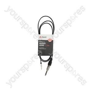 Classic 3.5mm Stereo Minijack to Mono 6.3mm Jack Lead - - 1.5m - MP3-JK