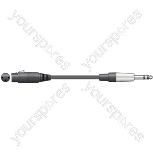 Classic Audio Leads XLR Female - 6.3mm TRS Jack Plug - 1.5m - XF-S6J150