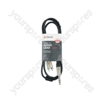 Classic 6.3mm TRS Jack to 2 x RCA Phono Leads - 6.35mm-RCA 1.5m - S6J-2R150