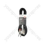 Classic Twin RCA to 2 x 6.3mm Mono Jack Plug Leads - 2RCA-2Jack 3.0m - 2R-2M6J300