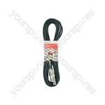 Classic 6.3mm TRS Jack Socket to 6.3mm TRS Jack Plug Leads - 6.35mm M-F 6.0m - S6J-EXT600
