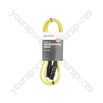 Classic Microphone Leads XLR Female - XLR Male - 1.5m Yellow - XF-XM150YW