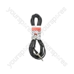 Classic 6.3mm TRS Angle Jack to Straight Jack Leads - 6m - S6J-90J600