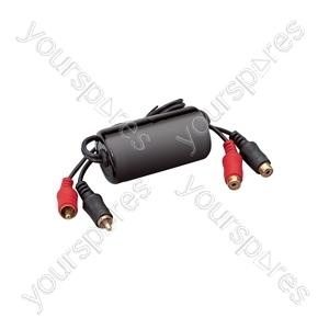 Ground Loop Isolator RCA Plugs - RCA Sockets - High quality
