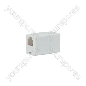 Modular Cord Coupler 6P4C - US21 coupler, - bopp bag