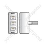 H006 Triple phone adaptor - blister