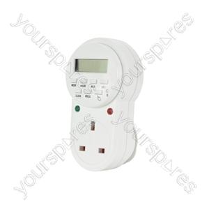 7 Day Digital Timer Socket - Weekly - TMR-4