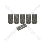 Remote Control Mains Socket Adaptor Set of 5 - RC5 RF controlled