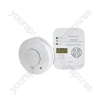 Carbon Monoxide & Smoke Alarm Set - Monoxide/Smoke V2 - COD100B/SD102P