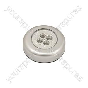 4 LED Round Push Light - Push-on - PL001