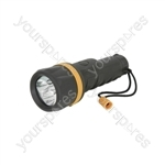 Heavy Duty LED Rubber Torches - 3 Straw hat 2 x - HDR02