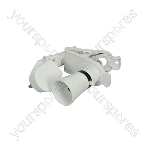 Switched Clip On Lamp Holder - light (bulk with 1.8m mains lead)