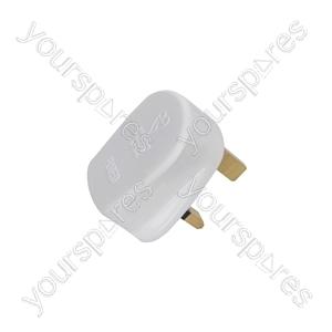 Fused UK Mains Plugs - plug, 13A fuse, white