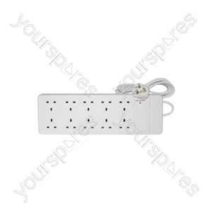 10 Gang Extension Lead - 13A - 2.0m