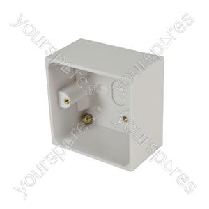 Single Surface Back Boxes - WA29 box, 47mm