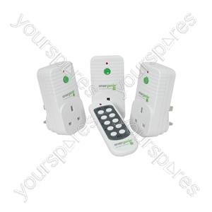 Remote Control Mains Socket Set - 3 radio controlled sockets- gift box - ENER002-3