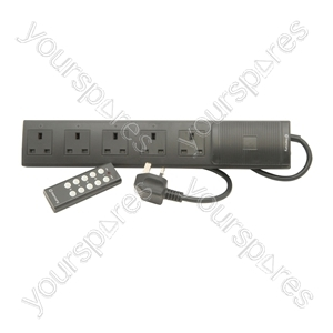 5 Gang Extension Lead with Remote Control - way controlled - RC-E5