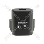 Mini USB Mains Charger 1.0A - USB-UK110v2