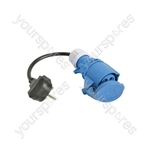 Caravan Mains Converter Lead - UK Conversion