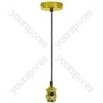 Vintage E27 Pendant Cord Sets - Bright Gold - PHE27-GLD